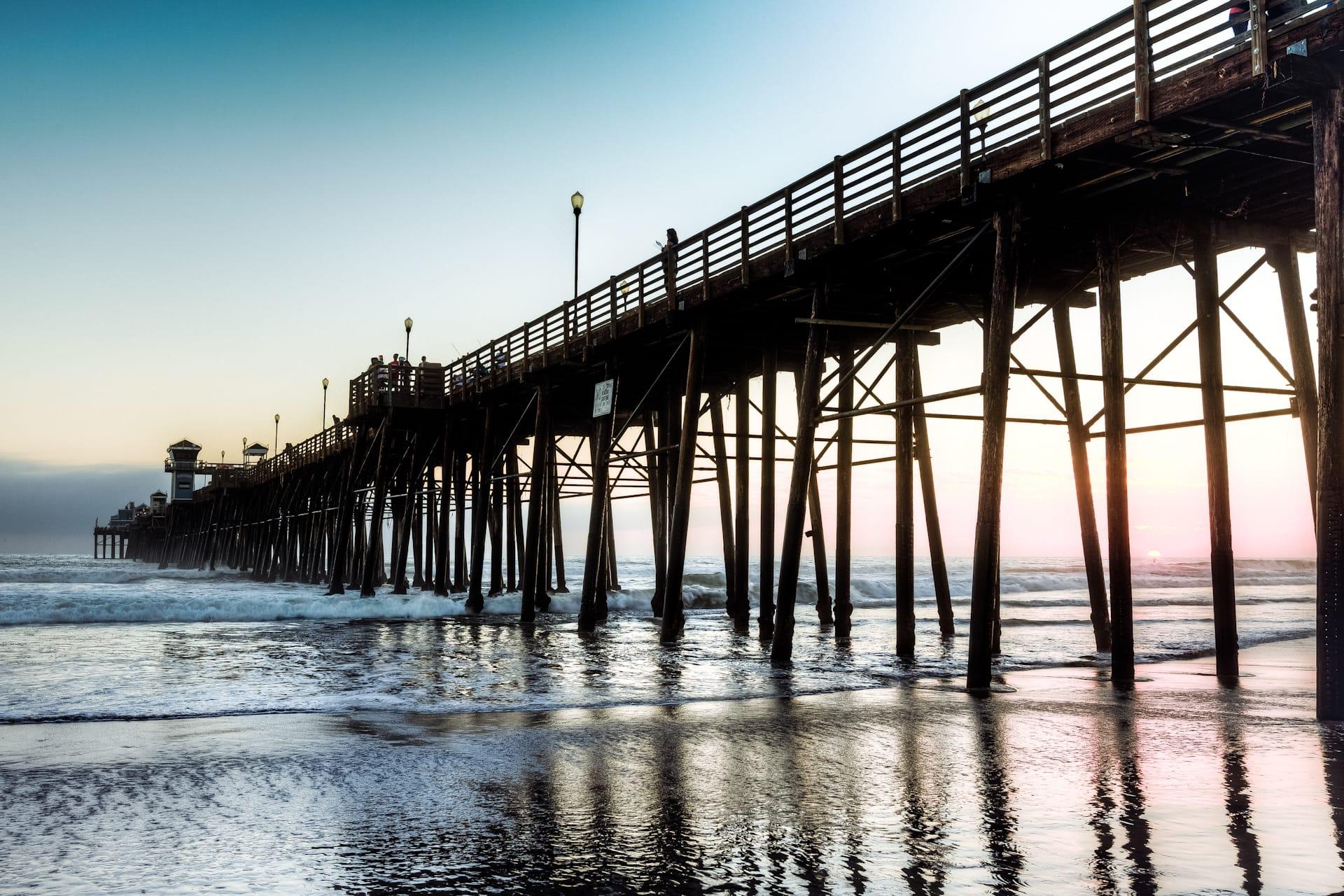 Purple Sunset At The Oceanside Pier Alik Griffin