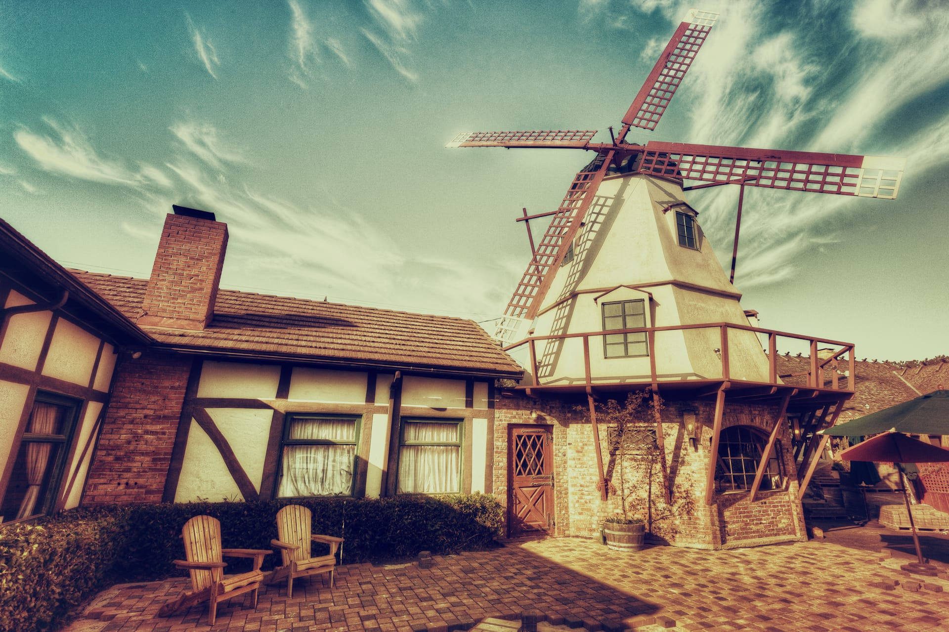 Windmill of Solvang, HDR Photo
