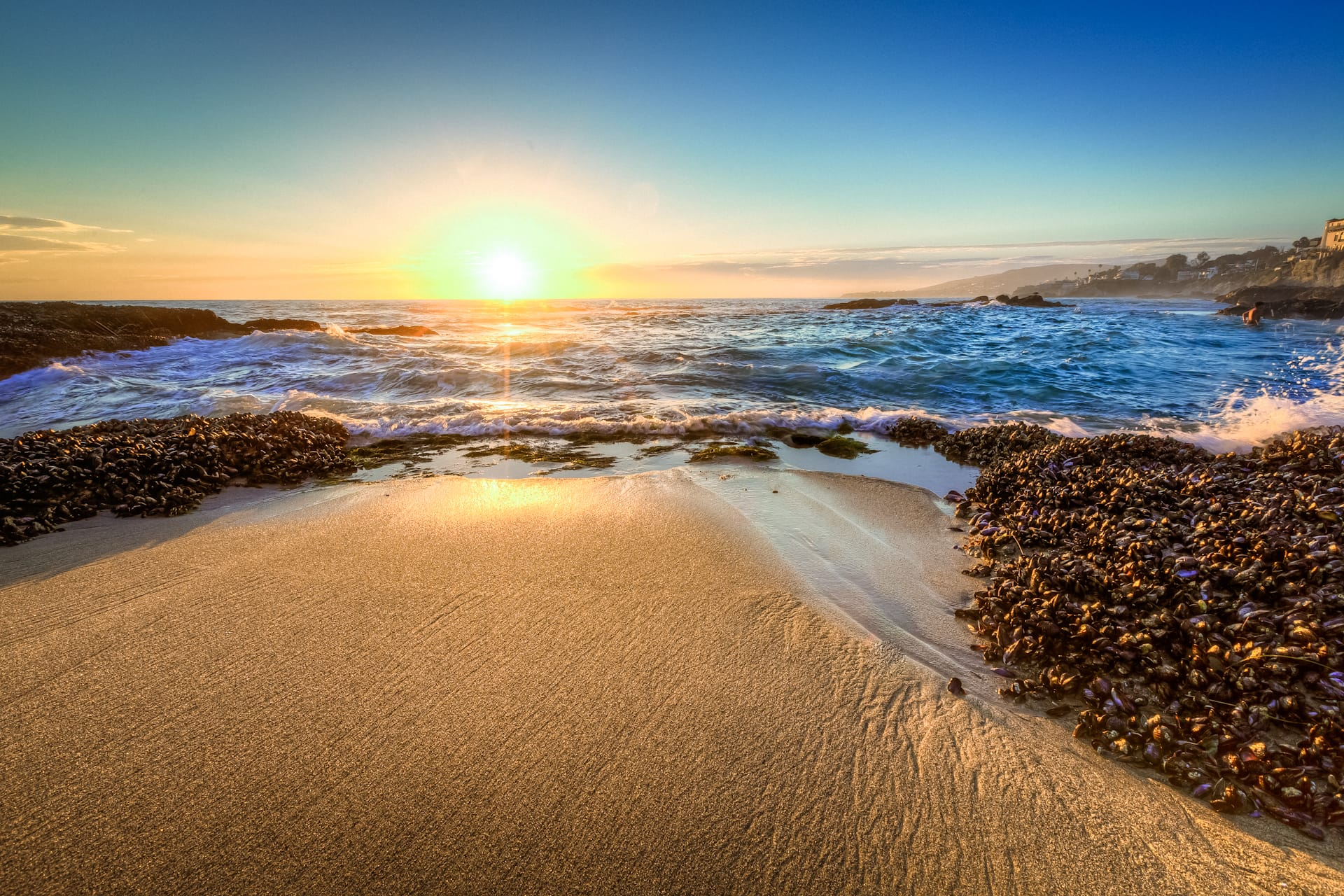 HDR Photo of Victoria Beach in Laguna Beach