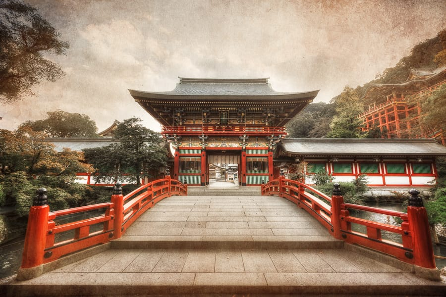 Yutoku Inari Shrine, Japan, HDR photography