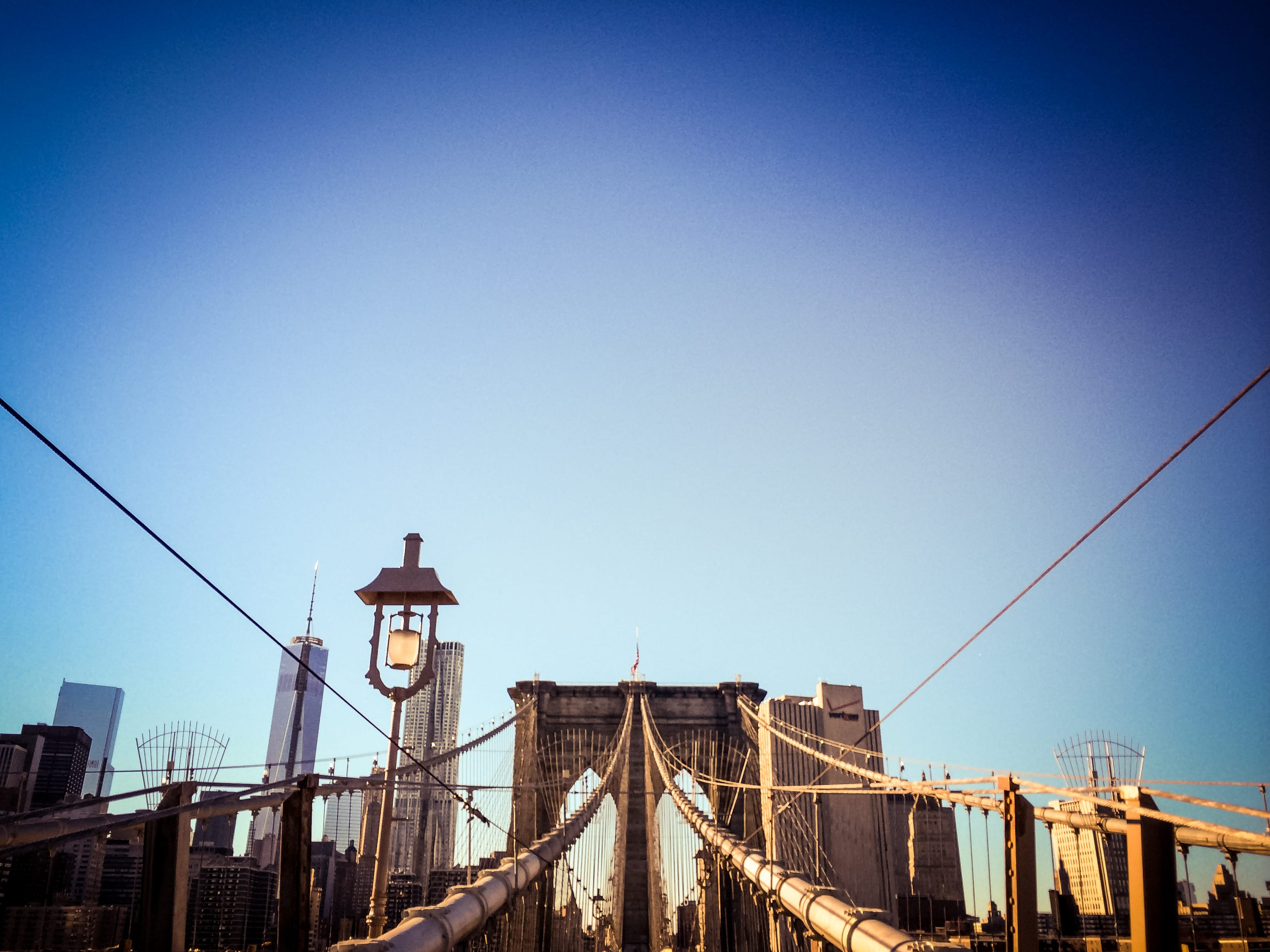 iPhone 5s - Looking Up Brooklyn Bridge