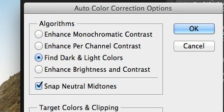 Auto Color Correction Options