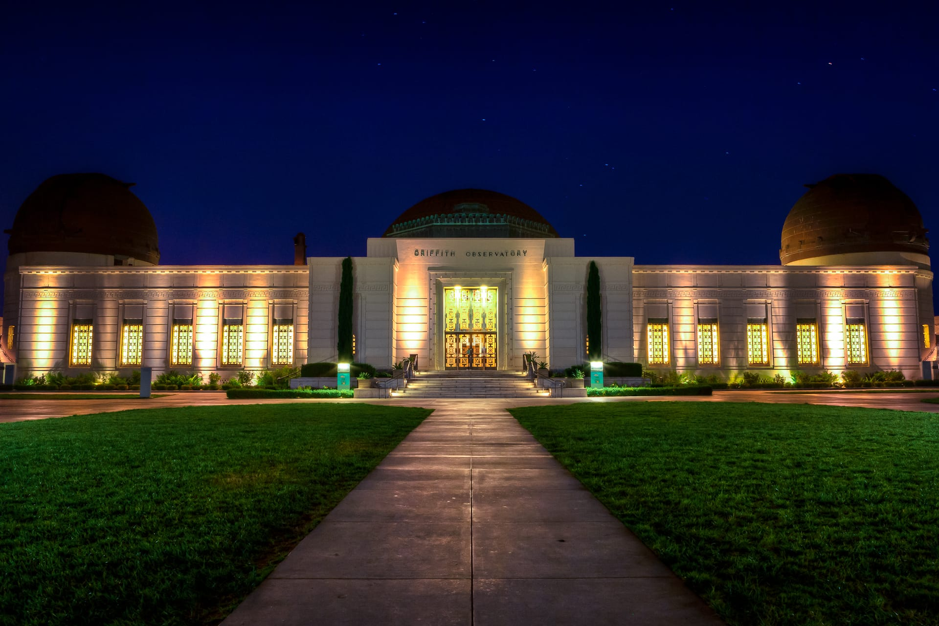 Griffith Observatory Los Angeles Night HDR