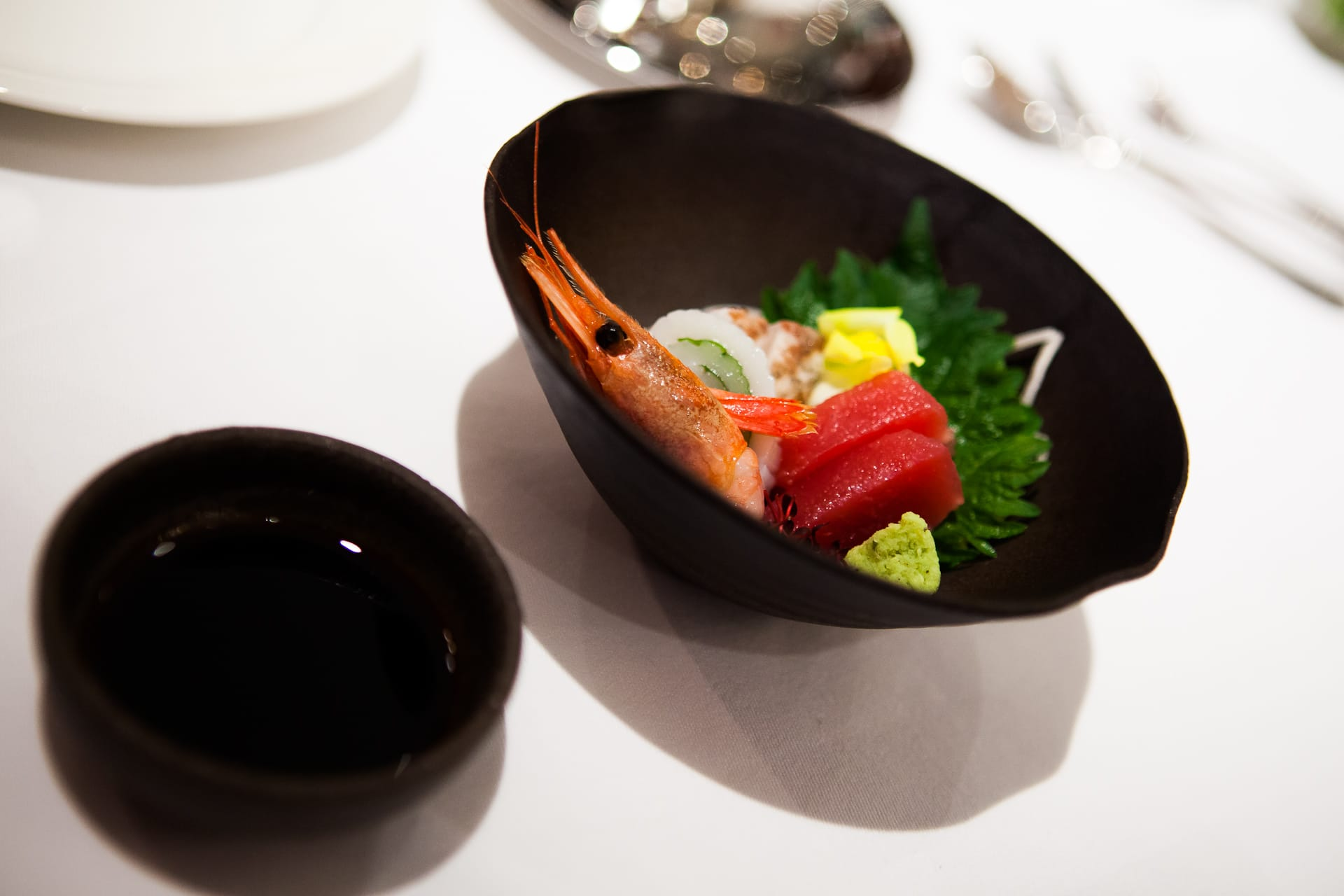 Japanese Sashimi with Shrimp