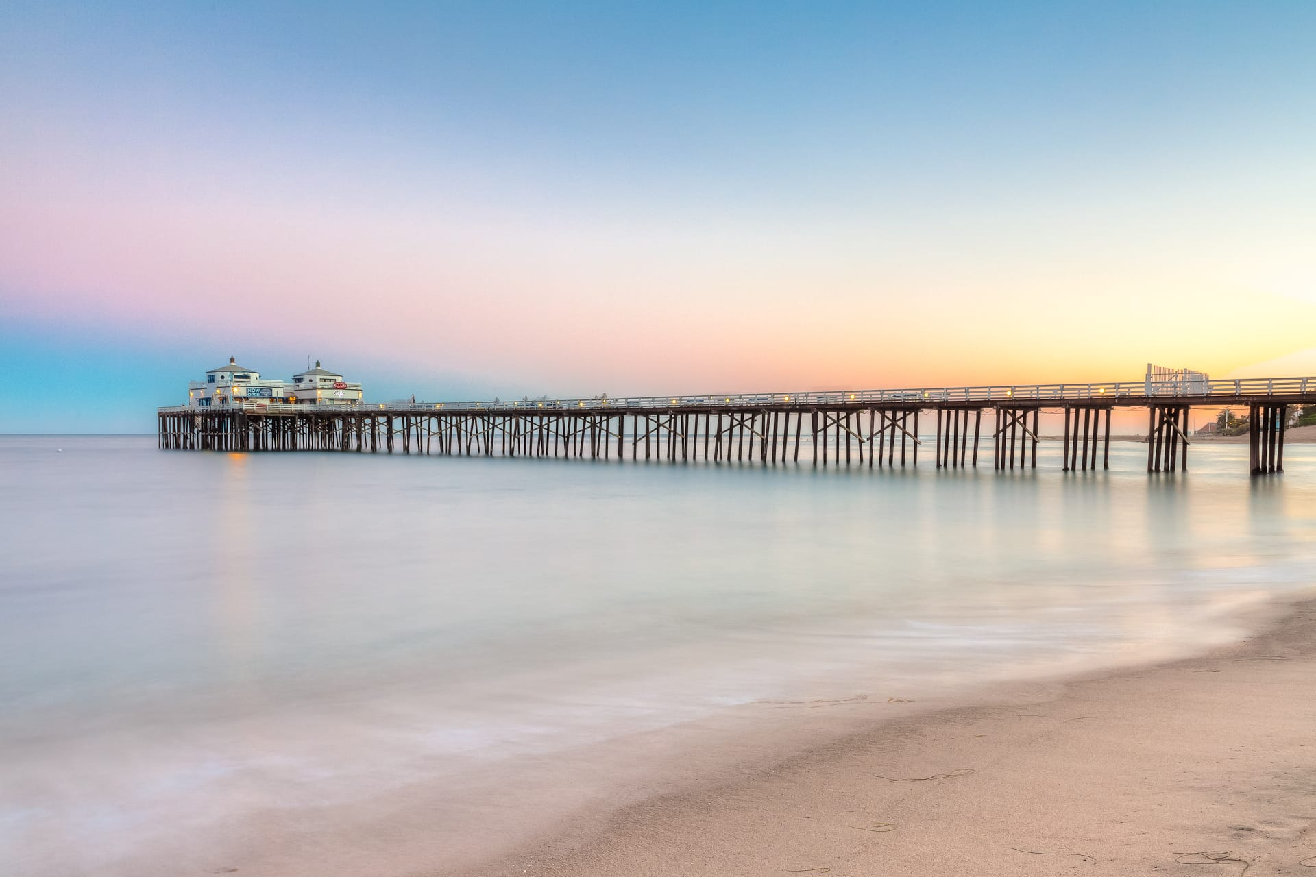 Malibu Pier Sunset HDR