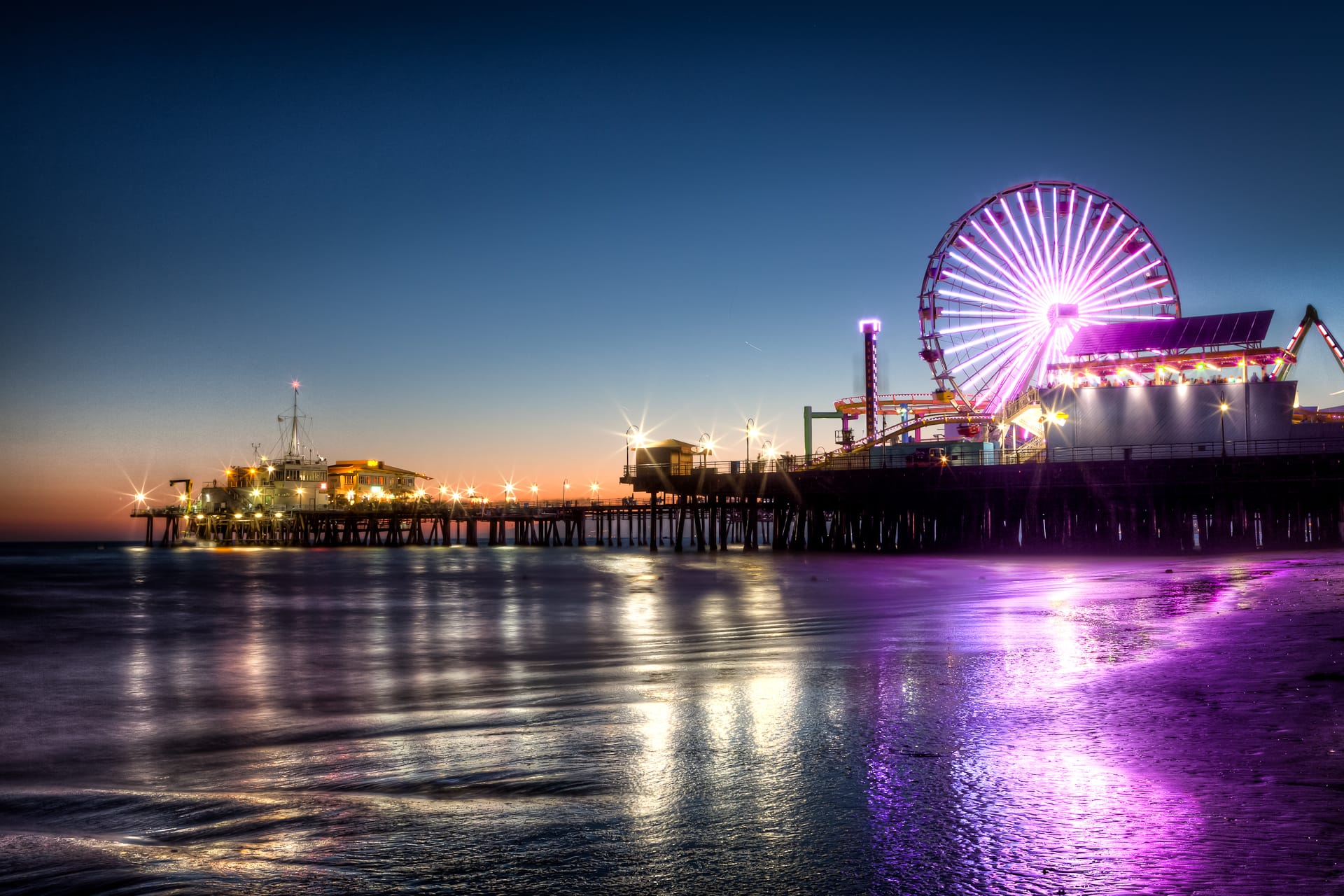 Santa Monica Pier HDR Sunset