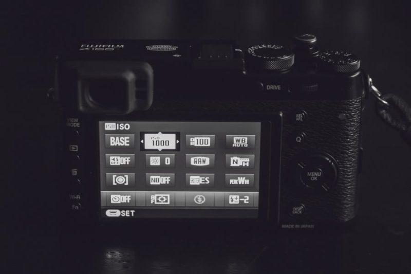 X100 Adjusting Q menu for RAW shooting