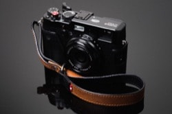 Hard Graft Italian leather camera wrist strap for the X100f