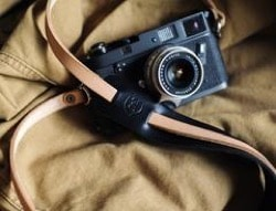 Tap&Dye leather camera strap