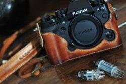 Kaza Deluxe Leather Case Fuji XT2