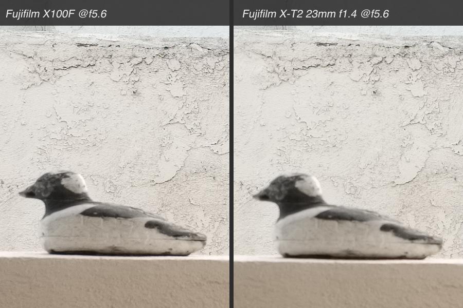 X100F vs X-T2 comparison