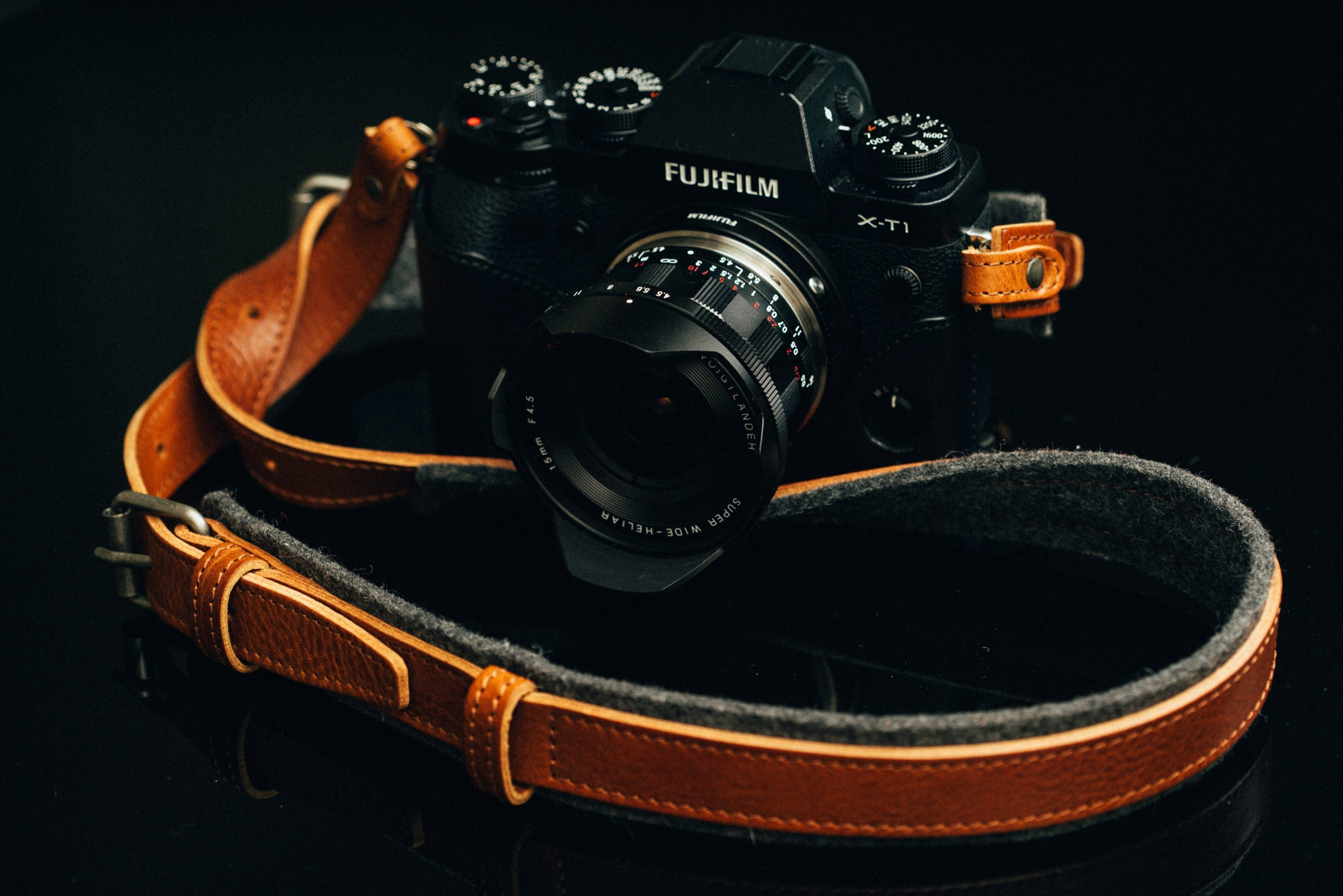 Hard Graft Leather camera strap