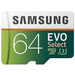 Samsung Evo Select U3 64GB Micro SD Memory Card