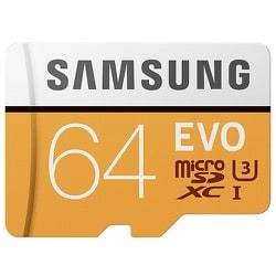 Samsung EVO U3 64GB Micro SD Memory Card