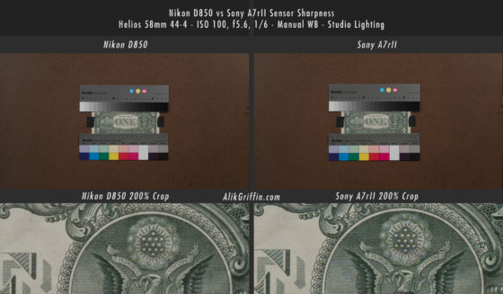 Nikon D850 vs Sony A7rII - Sensor Sharpness Comparison