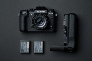 Fuji X-T2 With Batteries And Vertical Booster Grip
