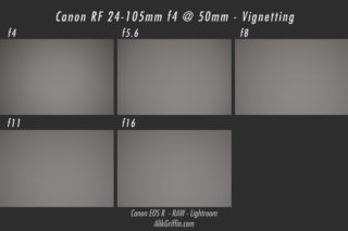 Canon RF 24-105mm f4L Vignetting Sample at 50mm