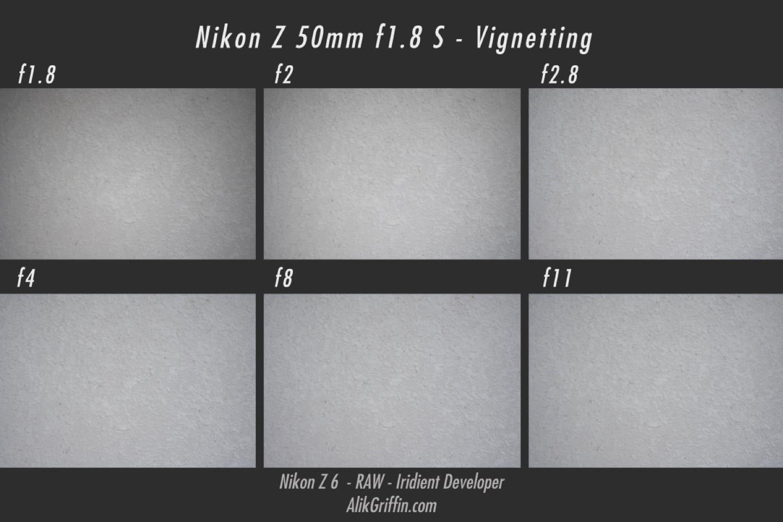 Nikon 50mm f1.8 S Vignetting