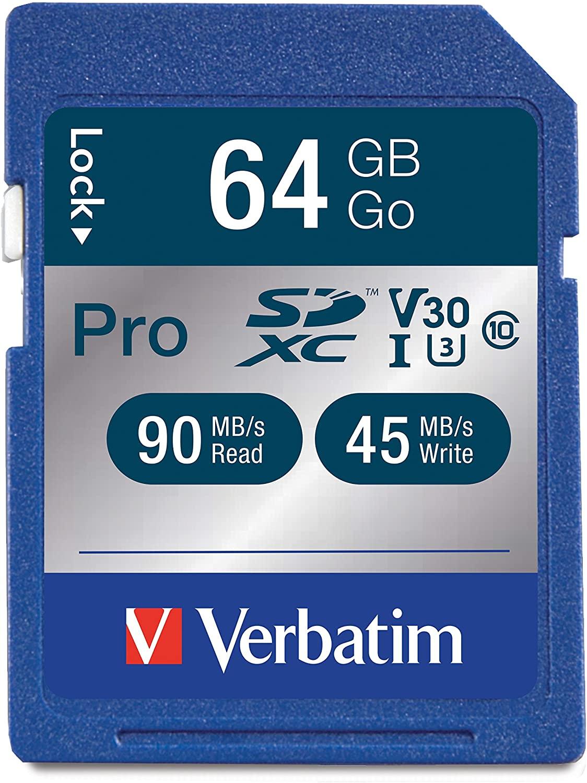 Verbatim Pro U3 UHS-I SD Card