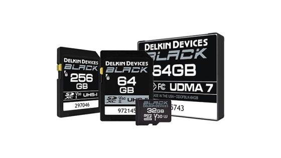 Delkin Black Memory Cards