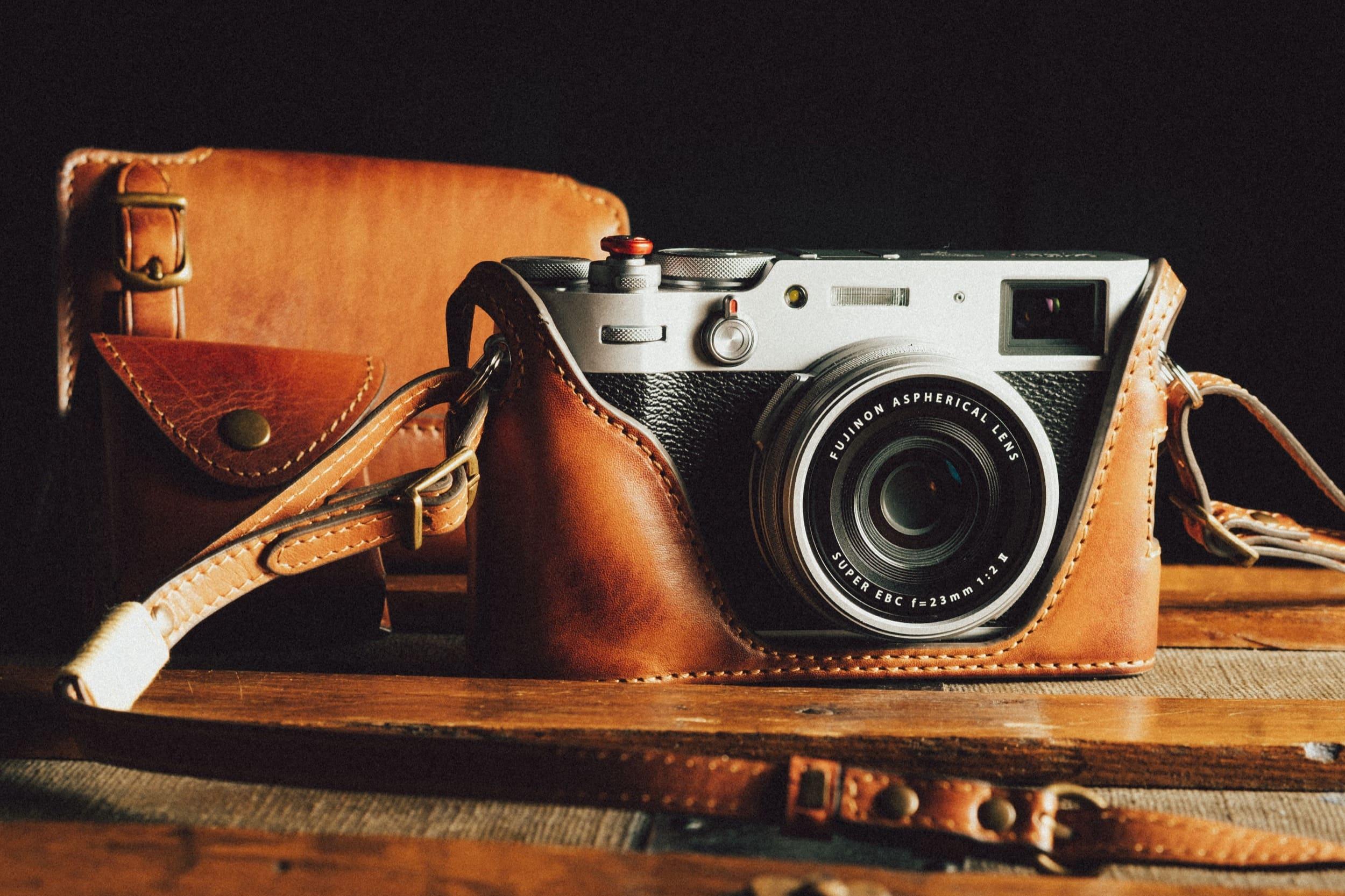 leather case x100v