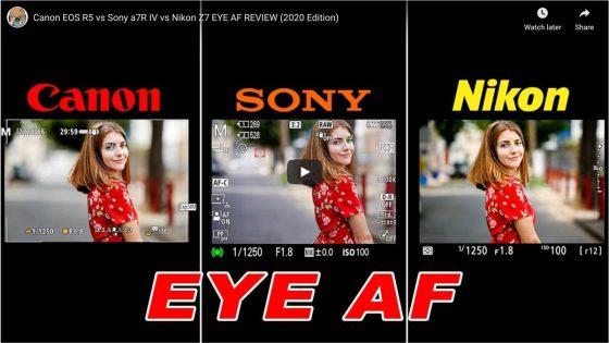 Canon vs Nikon vs Sony Eye AF