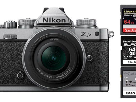 Nikon Z fc Memory Cards